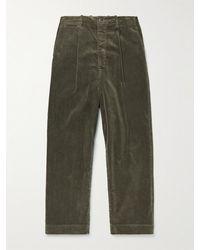 Kapital Wide-leg Cotton-corduroy Trousers - Grey