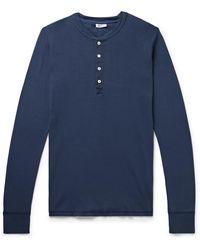 Schiesser Karl Heinz Cotton-jersey Henley T-shirt - Blue