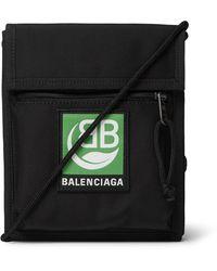 Balenciaga Logo-appliquéd Canvas Messenger Bag - Black