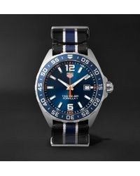 Tag Heuer - Formula 1 43mm Stainless Steel And Nato Webbing Watch - Lyst