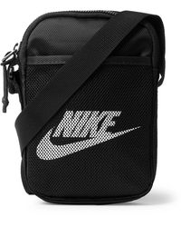 Nike Logo-print Coated-canvas Pouch - Black