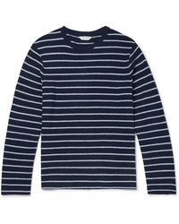 Club Monaco Slim-fit Striped Cotton T-shirt - Blue