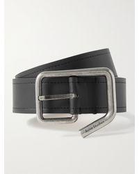 Acne Studios 3.5cm Leather Belt - Black