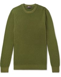 Loro Piana - Garment-dyed Ribbed Cashmere Sweater - Lyst