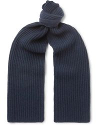 Thom Sweeney - Ribbed Cashmere Scarf - Lyst