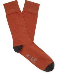 Kingsman Corgi Colour-block Cotton-blend Socks - Orange