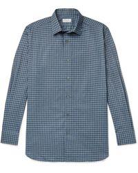 Charvet Checked Cotton Shirt - Blue