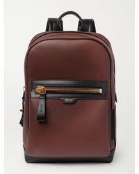 Tom Ford Full-grain Leather Backpack - Brown
