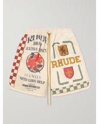 Rhude Printed Cotton-canvas Shorts - Multicolour