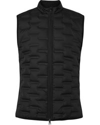 Nike Aeroloft Repel Padded Quilted Shell And Fleece Golf Gilet - Black