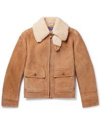 Ralph Lauren Purple Label - Beedon Shearling Jacket - Lyst