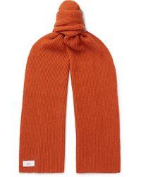 MR P. Ribbed Alpaca-blend Scarf - Orange