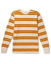 Pop Trading Company Striped Cotton-jersey T-shirt - Yellow