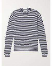 Odyssee Timonos Striped Cotton T-shirt - Blue
