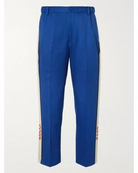 Gucci Poplin-trimmed Cotton-twill Suit Trousers - Blue