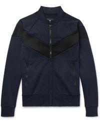 Rag & Bone - Panelled Scuba-jersey Bomber Jacket - Lyst