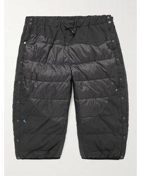 Klättermusen Heidrun 2.0 Padded Quilted Recycled Shell Down Shorts - Black
