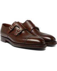 George Cleverley - Thomas Pebble-grain Leather Monk-strap Shoes - Lyst