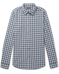 Theory - Irving Checked Cotton Shirt - Lyst