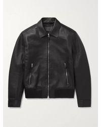 MR P. Nappa Leather Blouson Jacket - Black