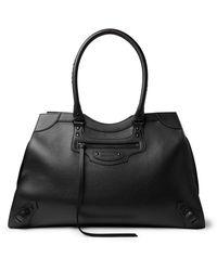 Balenciaga Classic City Tasselled Full-grain Leather Duffle Bag - Black