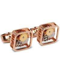 Tateossian - Gear Rose Gold-plated Cufflinks - Lyst
