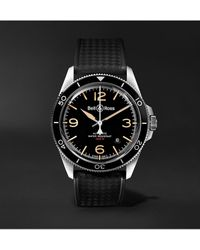 Bell & Ross Br V2-92 Steel Heritage Automatic 41mm Stainless Steel And Rubber Watch - Black