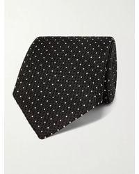 Tom Ford 8cm Pin-dot Textured-silk Tie - Multicolour