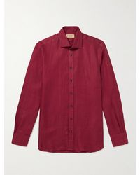 James Purdey & Sons Linen-twill Shirt - Red