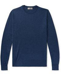 Canali Merino Wool Rollneck Jumper - Blue