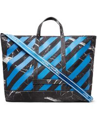 Off-White c/o Virgil Abloh - Printed Cotton-canvas Tote Bag - Lyst
