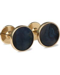 Alice Made This Bayley Quink Patina Brass Cufflinks - Blue