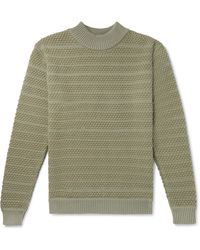 S.N.S Herning Wool Mock-neck Sweater - Green