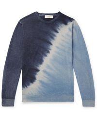 Altea Tie-dyed Cashmere Jumper - Blue