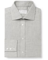 Kingsman Turnbull & Asser Cotton And Cashmere-blend Shirt - Gray