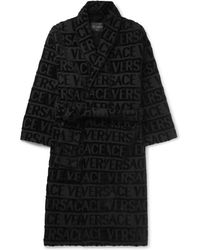 Versace - Logo-jacquard Cotton-terry Robe - Lyst