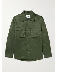 NN07 Columbo Padded Shell Overshirt - Green