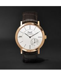 Piaget - Altiplano Automatic 40mm 18-karat Rose Gold And Alligator Watch, Ref. No. G0a38131 - Lyst