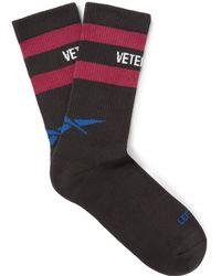 Vetements - + Reebok Logo-intarsia Knitted Socks - Lyst