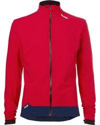 Soar Running Weatherproof Stretch-jersey Jacket - Red