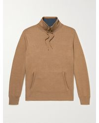 MR P. Double-faced Mulberry Silk And Organic Cotton-blend Jumper - Brown