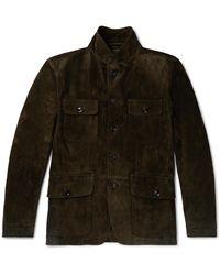 Tom Ford Suede Field Jacket - Brown