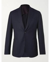 Paul Smith Slim-fit Wool-hopsack Blazer - Blue