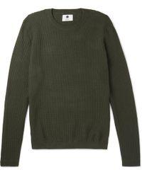 NN07 - Albert Basketweave Cotton Sweater - Lyst