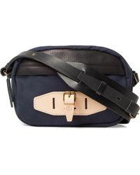 Bleu De Chauffe - Leather-trimmed Canvas Bag - Lyst