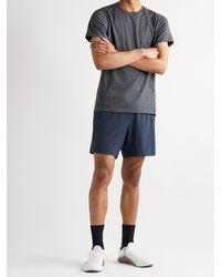 Ten Thousand Session Crochet-trimmed Stretch-shell Running Shorts - Blue