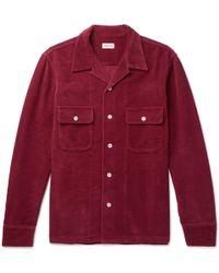 You As - Penn Camp-collar Cotton-corduroy Shirt - Lyst