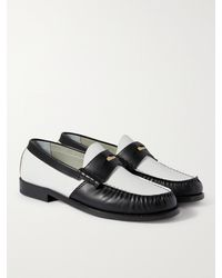 Rhude Embellished Two-tone Leather Penny Loafers - Black