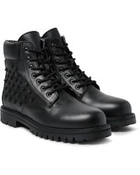 Valentino - Studded Leather Boots - Lyst
