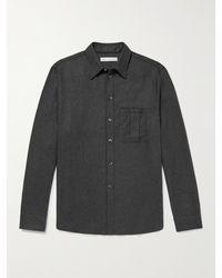 Umit Benan B+ Umit Benan B - Cashmere And Silk-blend Shirt - Grey